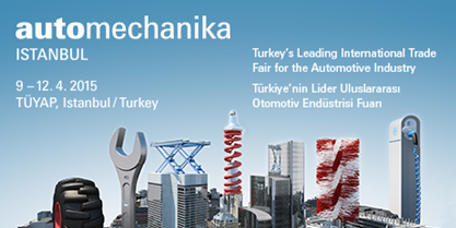 We are attending Automechanika 2015 Istanbul !